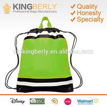 Small Non Woven Reflective Sports Drawstring Backpack bag