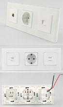 TV socket German power socket USB charger wall socket