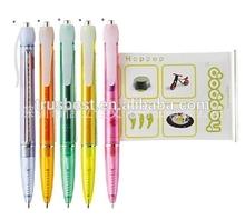 promotional banner pen , retractable pull out paper pen