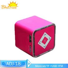 Original mini speaker cube, portable, support TF card/USB/FM