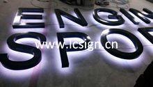 Waterproof outdoor illuminated led backlit logo