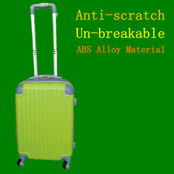 Unbreakable, Anti-scratch, ABS Alloy new material trolley luggage set, travel suitcase factory 2015