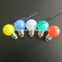 LED G40 G45 color light bulb 1W E27 / B22 , PC cover , IP65 , CE & ROHS with belt light