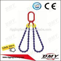 DMY Grade S6 Heavy Duty 2 legs lifting chain sling/4 legs chain sling/3 legs chain sling