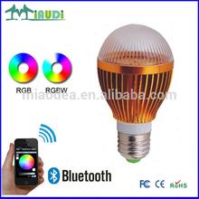 smart RGB light with bluetooth control play bulb led
