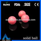 hard precice 25.54mm solid nylon plastic red ball used in decoration