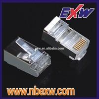 E136825 UL certified 8P8C Modular Plug shield RJ45 modular plug