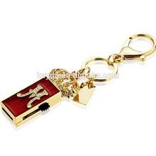 crown USB key chain Promotional USB/8GB USB key Chain/Metal USB memory stick for Promotional