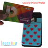 Sticker Smart Wallet Phone Pouch Silicone Mobile Card Pocket
