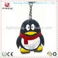 Animazione 3d pinguino silicone portachiavi, catena chiave di gomma, pvc morbido portachiavi