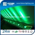 2014 Shenzhen 24 W rgb aço inoxidável moderna IP65 à prova d ' água levou interior de água de vidro fonte de parede