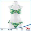 Neck Halter Tight Brazilian Flag Bikini