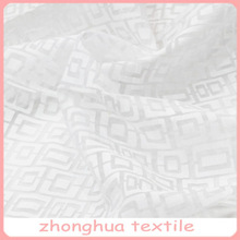 wholesale chinese style burnout plaid voile fabric, organza curtain fabric