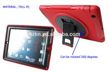 Shockproof rotate stand hybrid case for iPad 2 iPad 3 iPad 4