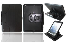 Rugged defender armor rotating stand holster case for iPad Air