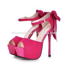 2015 Summer Buckle Appliques Pure Cotton Lady Platform Heels