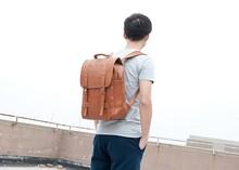 korean fashion men's PU backpacks leisure bag made in China