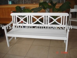 ( W-B-4065) white color wooden bench