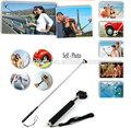Extensível z-1 foto auto vara portátil bluetooth monopod ajustável com telefone titular estande para iphone 5/5s samsung