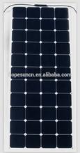 Semi flexible solar panels for caravan 130w mono solar pv panels