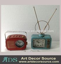radio receiver metal desktop clock