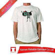 Hot sale 180GSM 100% cotton white t-shirt /hemp tshirt with custom