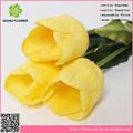 Tulipa flor artificial do casamento arranjo, tulipa flor artificial de exibição