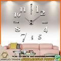 Décoratifs pour la maison géants. argent numérique. 100*100cm géants. bricolage. dyn001 gros horloge murale