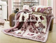 Polyester animal print sapin flannel fleece blankets