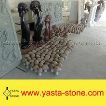 Home Decorative Black Stone Dog Sculpture