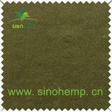 High quality organic cotton sandwashed hemp silk jacquard fabric