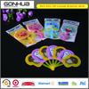 2014 Summer promotional gift cheap custom cartoon design 7 folding PP plastic hand fan