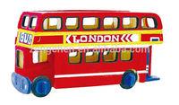 toywins UK double deck bus kids wooden toys preschool educational toys