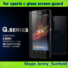 Mobile phone accessories tempered glass screen gurad for Sony Xperia C ,for sony Xperia C screen guard