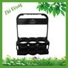 Black plastic wine bottle carrier&Beer bottle holder for 6 pack,restaurant, club and bar use