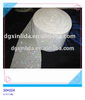 2014hotsale shining plastic rhinestone mesh trimming