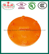 ASTM A536 FM UL ULC ductile iron sand casting Domed End Cap