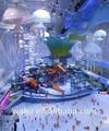 novo design do teto da decoração inflável jellyfish para a venda com led