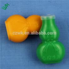 5ml Bottle gourd shape PE green Plastic bottle for pill