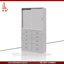 alibaba China furniture sliding door filing cabinet metal multi drawer cabinet steel cupboard design with multi 10 drawer