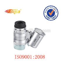 BIJIA 60x 3LED light microscope mobile phone plastic magnifying glass