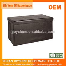 Foldable Storage ottoman/storage seat/storage chair
