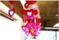 local do casamento ou estágio ou decoração do quarto de coração de papel pendurado decoração