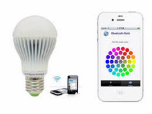 Smart phone controlled bluetooth/wifi rgb led lighting bulb e27 Iphone/Android!