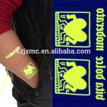 Hot sale glow in the dark tattoo sticker