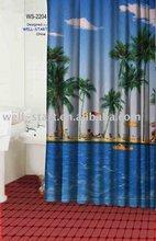 Seaside design printed fabric Shower Curtain