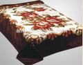 100% poliéster baratos da china fabricante de super macia de trama flor impresso manta de vison