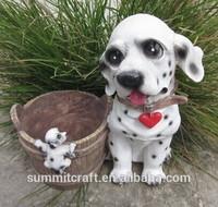 Multifunctional spot dog resin animal shape planters