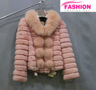 2014 New Fashion Style Rabbit Fur coats/rex rabbit fur coats/fur coats for women