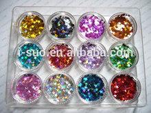winning warm praise fancy colors PET glitter